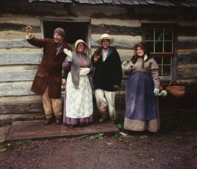 interpreters at the 1850 farm in winter
