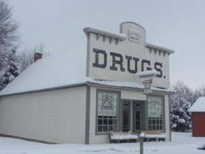 drugstore in snow