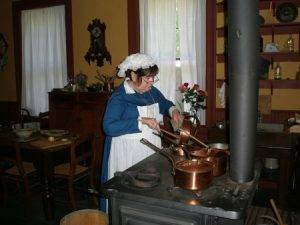 maid at the stove