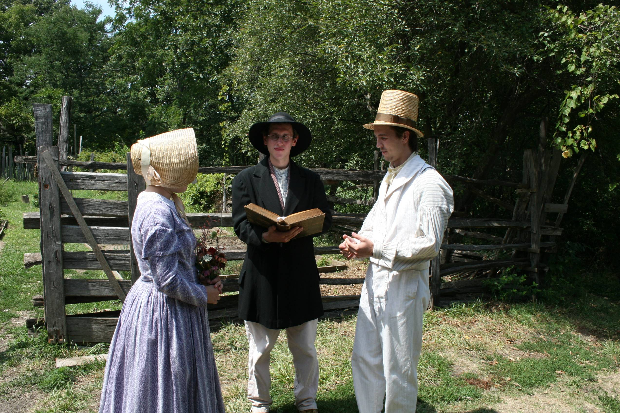 The Staff At Living History Farms Invites You To A Wedding 1850 Pioneer Farm Interpreters Will Recreate Ceremony On Saay