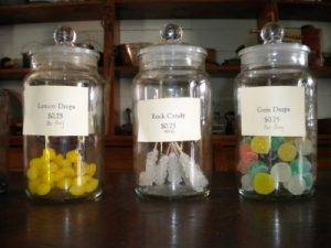 candy jars at the general store
