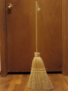 broom standing on its own