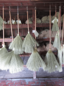 drying the brooms
