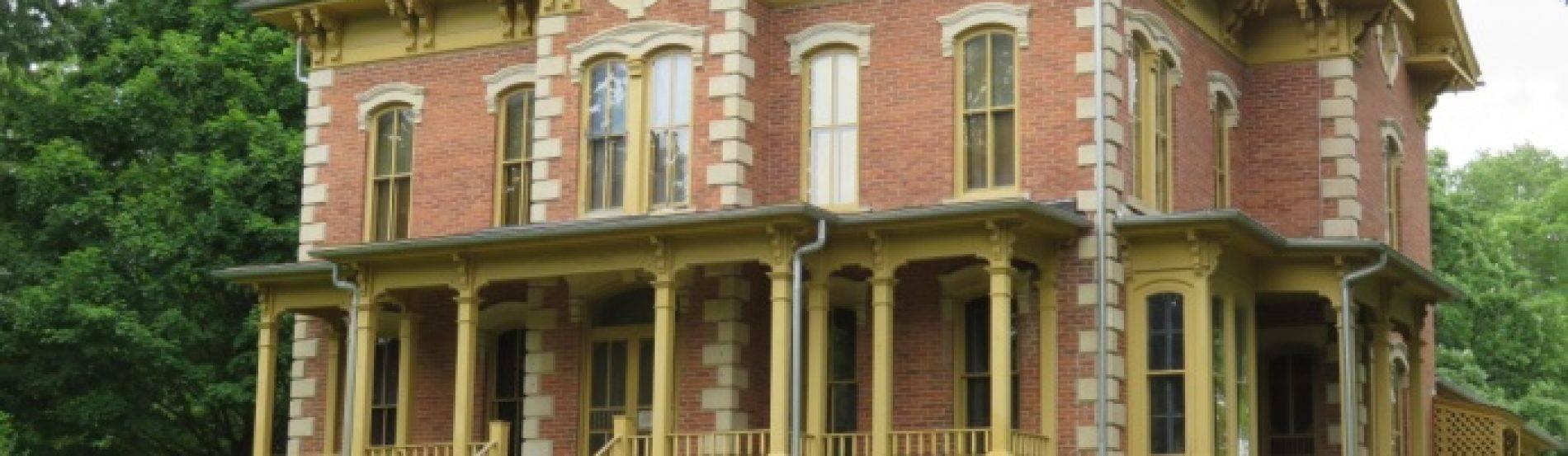 Flynn mansion in spring