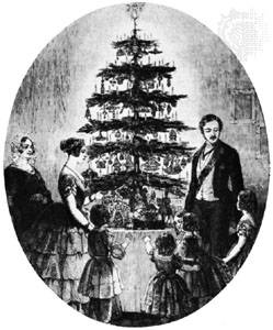 Victoria and royal family decorating tree