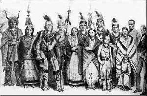 Ioway tribe illustration
