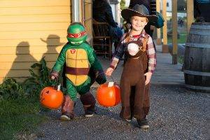 Children in costume at Family Halloween