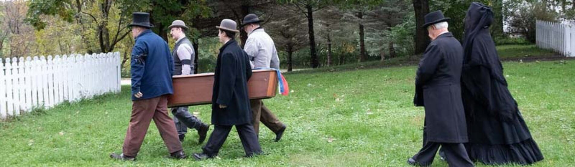 victorian funeral procession