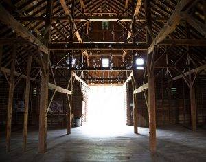 interior of Flynn Barn