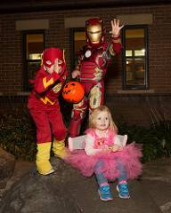 kids at family halloween event