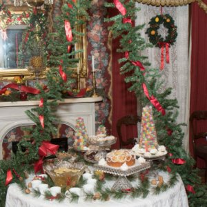 Victorian holiday table
