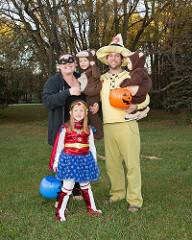 Family at Halloween event