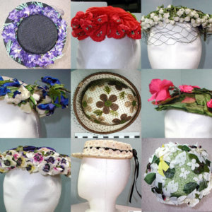 several floral hats from LHF collection