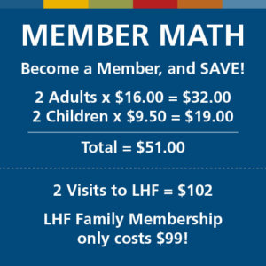 for a family of 4 a membership can pay for itself in 2 visits
