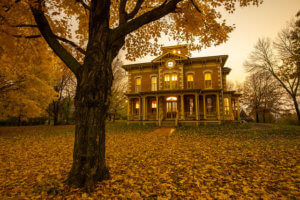 flynn mansion in fall