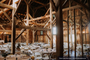 flynn barn decorated for a wedding