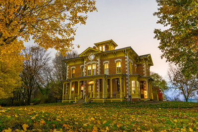 Flynn mansion on a fall evening